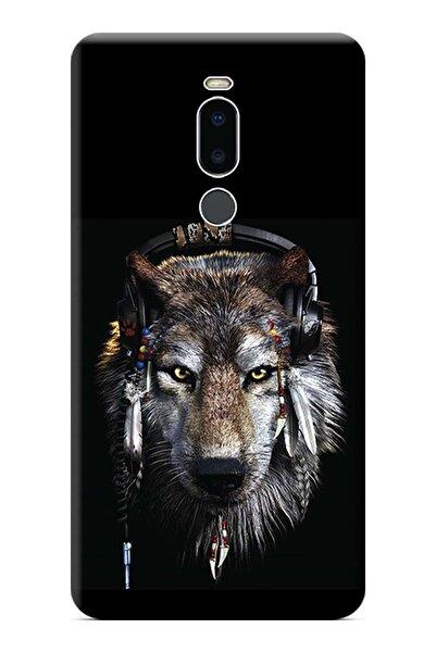 Meizu Note 8 Uyumlu Kılıf Baskılı Silikon Kapak Animals Face Stk:490