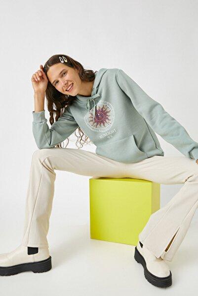 Koton Kadın Nane Yeşili Sweatshirt 2KAL68042OK
