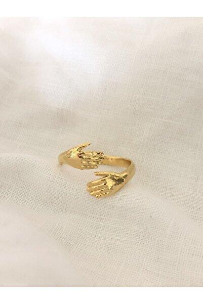 The Y Jewelry Kadın Altın Kaplama El Yüzük  Ayarlanabilir