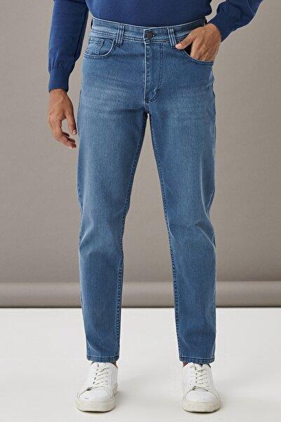 AC&Co / Altınyıldız Classics Erkek Mavi Regular Fit Bol Kesim Denim Jean Kot Pantolon