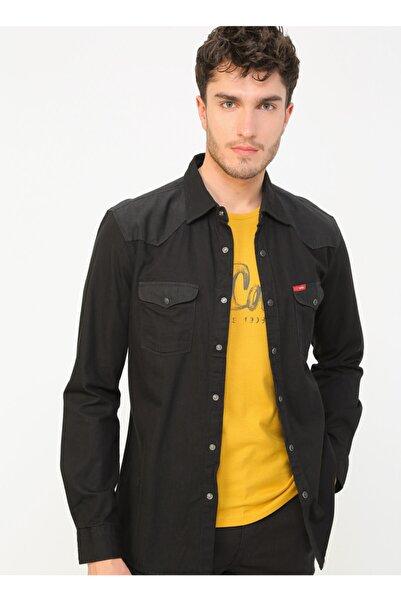 Lee Cooper 202 Lcm 141006 Düz Erkek Denim Gömlek