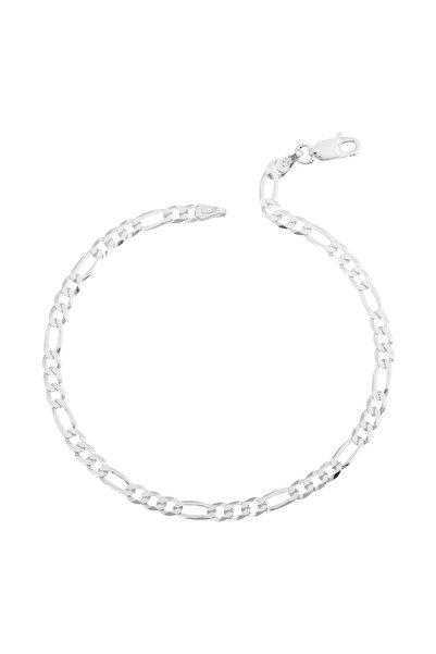 İn Dubai Silver Erkek Figaro 925 Ayar Gümüş Zincir Bileklik 21 Cm Dbse4010