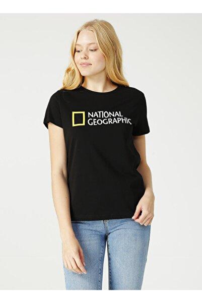 NATIONAL GEOGRAPHIC Kadın Beyaz Bisiklet Yaka T-shirt