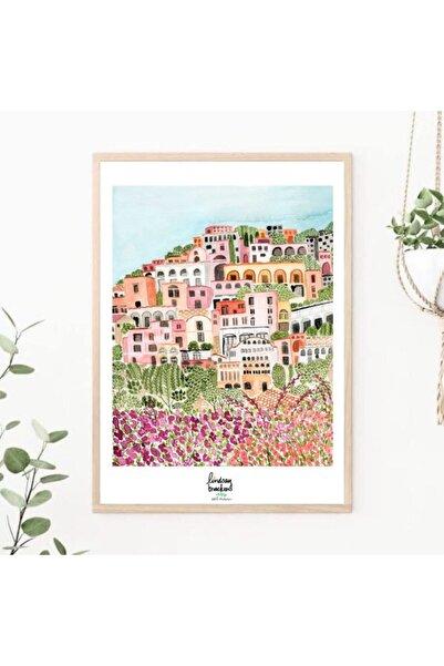 TMCdecoration City Çerçeveli Baskı Poster 50x70 Huş Rengi