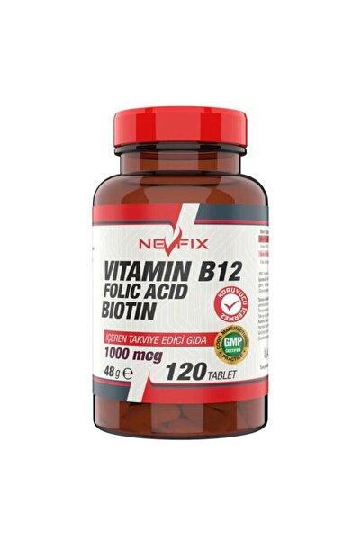 Nevfix Vitamin B12 Folic Acid Biotin 120 Tablet