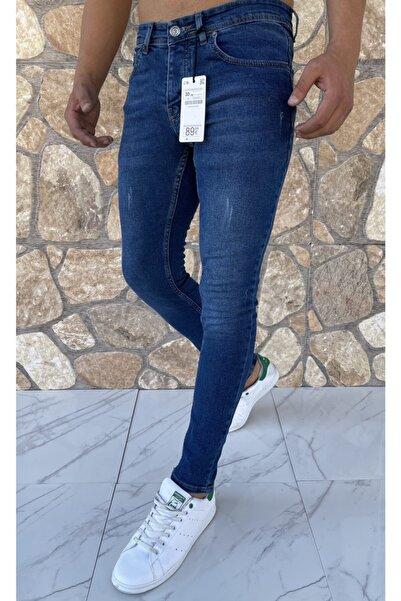 Dr Dnm Remix Erkek Jeans Skinny Fit Likralı Mavi Tırnaklı
