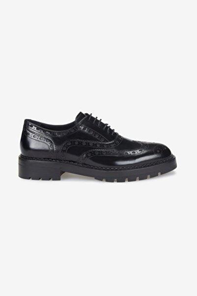 W Collection Bağcıklı Zımbalı Oxford Ayakkabı