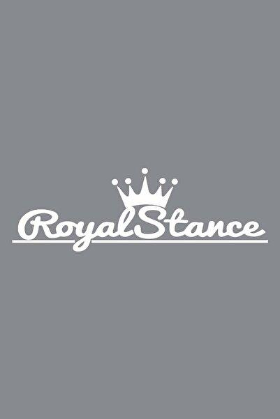 BK22 Royal Stance Sticker 55x18 Cm Beyaz Renk