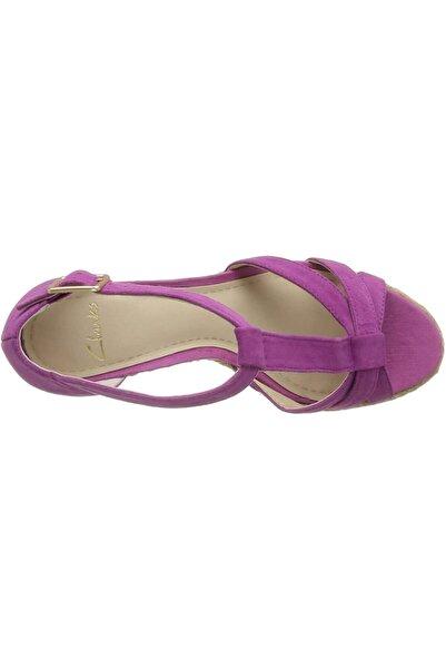 CLARKS Espadril Süet Kaplı 7 Cm Topuk Üzerine Tasarlanmış Zarif Kadın Sandaleti Octagon Bahama