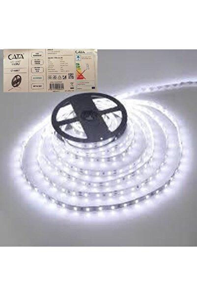 Cata 10 Çipli Şerit Led Işık Aydınlatma Beyaz 5 Metre Iç Mekan