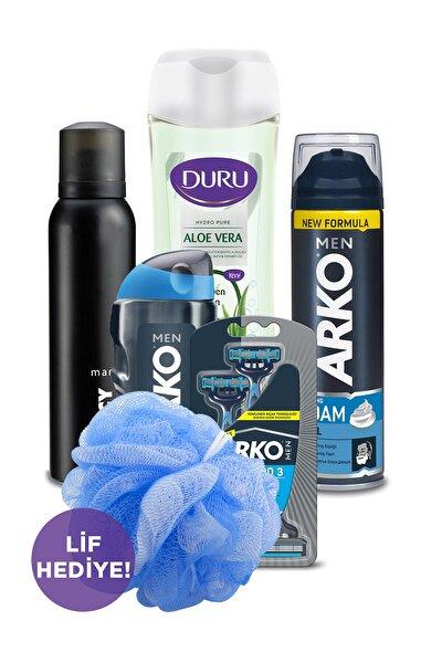 Duru Arko Men Tıraş Seti Privacy Deodorant 150ml ve Duru Aloevera Duş Jeli 450 ml