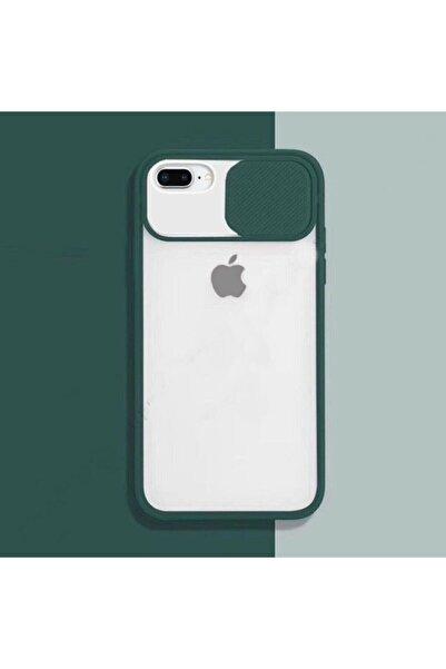 zore Iphone 7 Plus - 8 Plus Sürgülü Kamera Korumalı Silikon Kılıf
