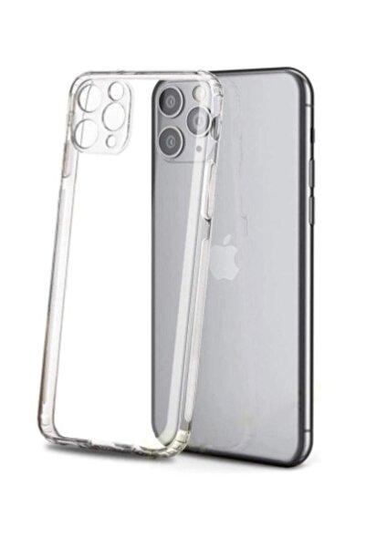 Mycase Apple Iphone 11 Pro Max Uyumlu   Kamera Korumalı Tıpalı Şeffaf Kılıf