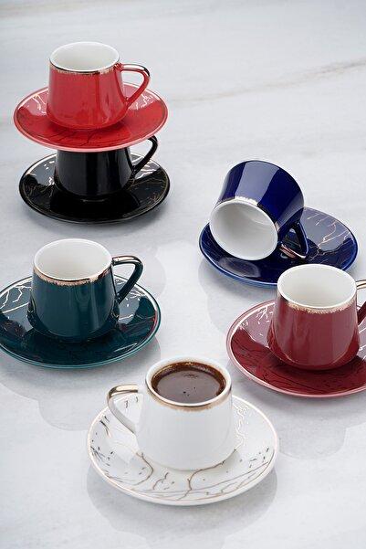 ACAR Milla 6lı Porselen Kahve Fincan Takımı
