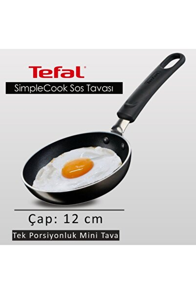 TEFAL Titanyum 1x Simplecook Difüzyon Tabanlı Sos Tavası - 12 Cm