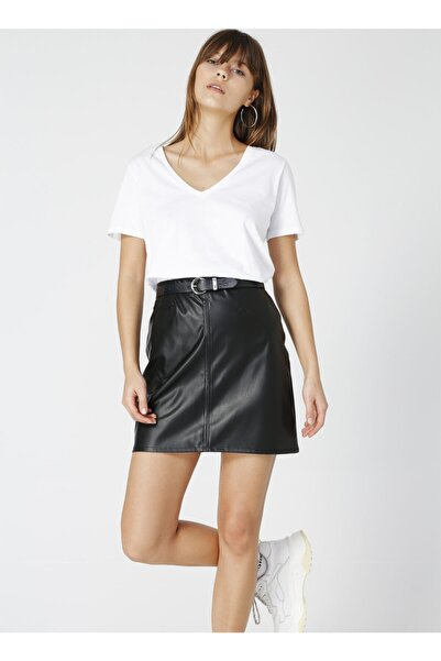 Fabrika Teyo Beyaz V Yaka Kadın T-shirt