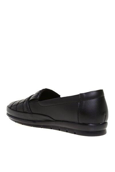 Cotton Bar Siyah Suni Deri Günlük Ayakkabı