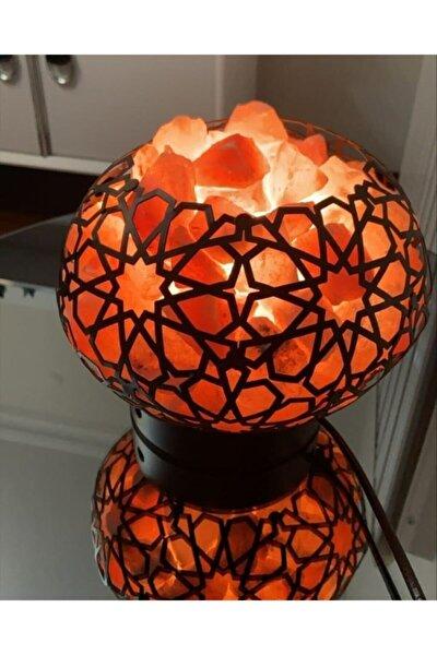 himalaya tuz lambası Ferforje Çanak Tuz Lambası 3-4 Kg Arası Siyah Renk