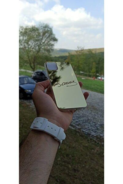 Kusva Apple Iphone 11 Premium Aynalı Gold Nano Cam