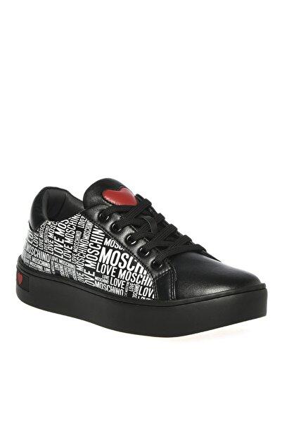 Love Moschino Kadın Siyah - Beyaz Sneaker