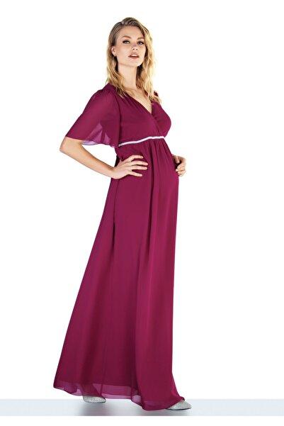 Ebru Maternity 4267 - Şifon Hamile Abiye Elbisesi