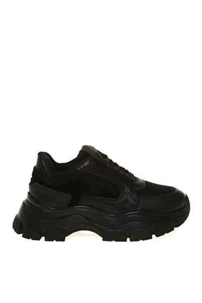 Fabrika Siyah Deri Kadın Sneaker