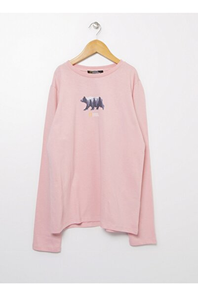 NATIONAL GEOGRAPHIC T-s, 9-10 Yaş, Pembe