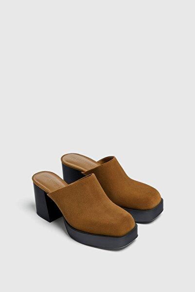 Pull & Bear Deri Topuklu Mule Ayakkabı