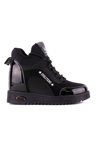Guja - Siyah Gizli Topuk Kadın Ayakkabı