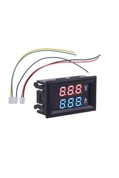 WOZLO Dijital Mini Voltmetre Ampermetre Dual Dc 0-100v 10a