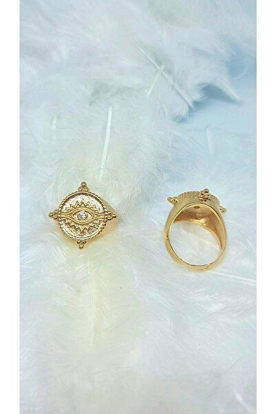 WONDER TOUCH 24k Altın Kaplama Göz Yüzük,5.8 gram Ayarlanabilir Yüzük,tasarım Yüzük Adet Fıyatıdır.