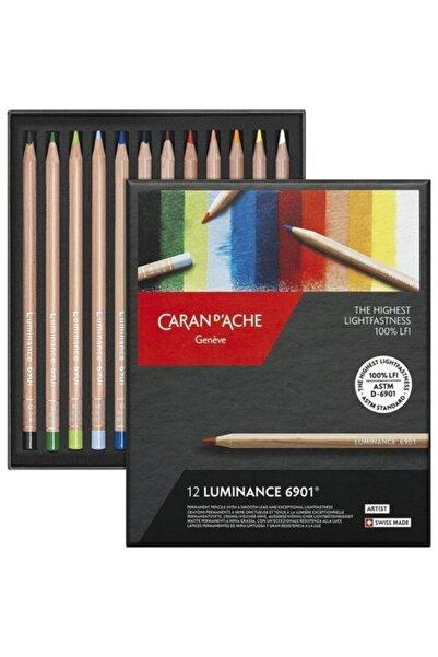 Caran d'Ache Lumınance 6901® - 12 Renkli Set Kuruboya Set
