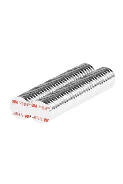 Hdg Yapışkanlı Yuvarlak Neodyum Mıknatıs D10x2 Mm Çap - 100 Adet - Güçlü Neodyum Mıknatıs Magnet