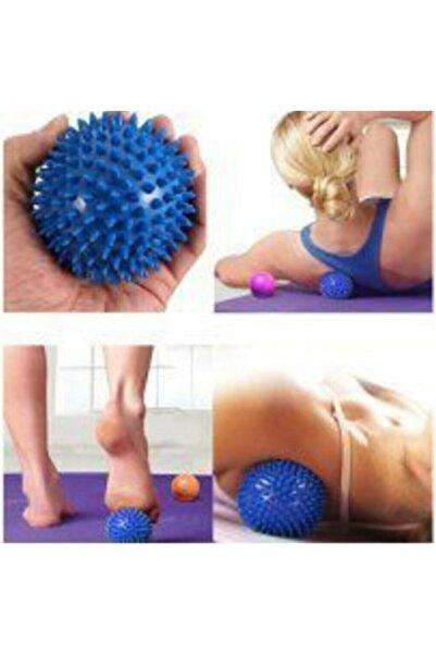 Türkmedical Duyu Uyarıcı Dikenli Masaj Topu Egzersiz Topu Sert 6 Cm -mavi