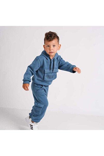 KİDSROOM Körüklü Cep Sweat ve Kargo Pantolonlu Erkek Çocuk Takım