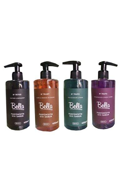 Bella Parfümistik Sıvı Sabun 400 ml Seti Leather&bergamot/cedarwood &magic Herbs/fig Blossom & Musk/
