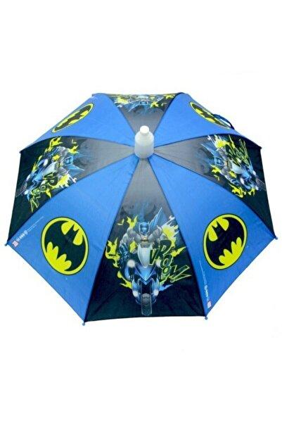 Rubenis Batman Lisanslı Çocuk Şemsiyesi 8 Telli Mavi Şemsiye