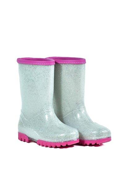 Mini Bonito Kız Çocuk Içi Kürklü Polarlı Yağmur Çizmesi