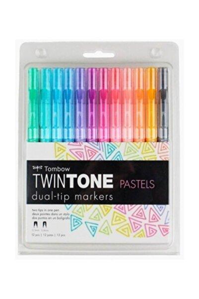 Tombow Twintone Çift Uçlu Kalem 12`li Pastel Renkler