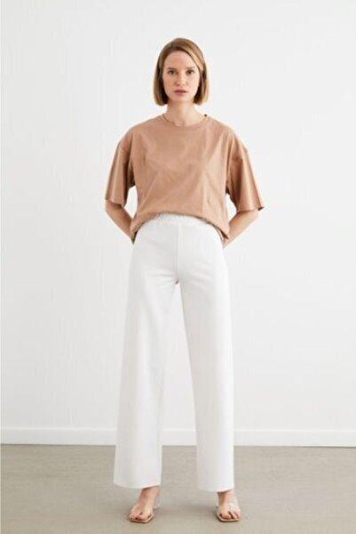 TERZİ DÜKKANI Kadın Beyaz Scuba Bol Pantolon