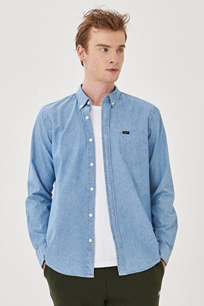 Lee Regular Fit Normal Kesim %100 Pamuk Uzun Kollu Gömlek