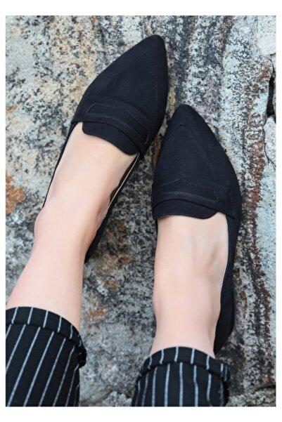 GünKar Reyna Siyah Süet Topuklu Ayakkabı