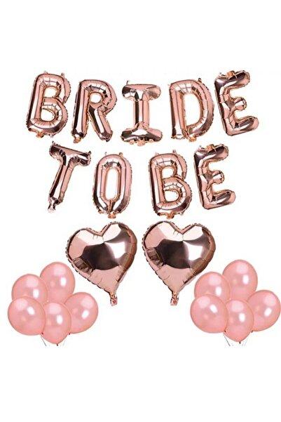 Deniz Party Store Bride To Be Folyo Balon Latex Balon Seti Bekarlığa Veda Balon Seti