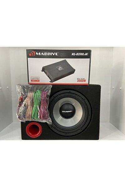 Soundmax Sx-al12 1500 Wat 400 Rms 30cm Bas Kabinli Massıve 3000 Wat 4 Kanal Amfi Kablo Takımı