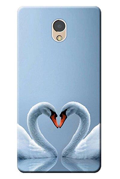 LENOVO P2 Uyumlu Kılıf P2a42 Baskılı Silikon Kapak Kuğ Ve Kalp Stk:305