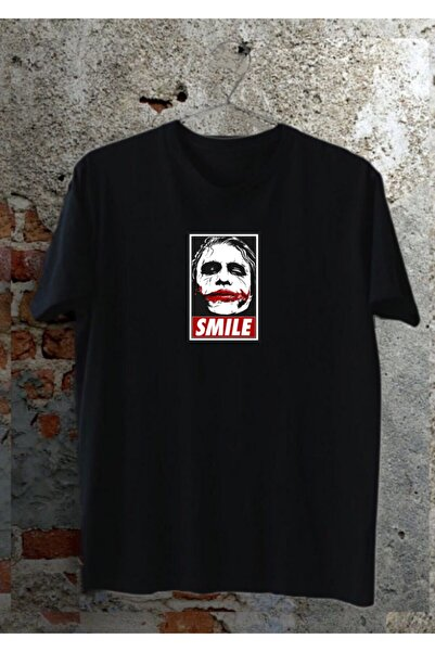 RUEBRIT Joker Smile Baskılı Unisex Regular Tshirt