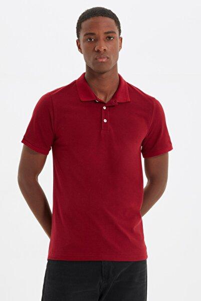 TRENDYOL MAN Kırmızı Erkek Slim Fit Polo Yaka Kısa Kollu Polo Yaka T-shirt TMNSS20PO0009