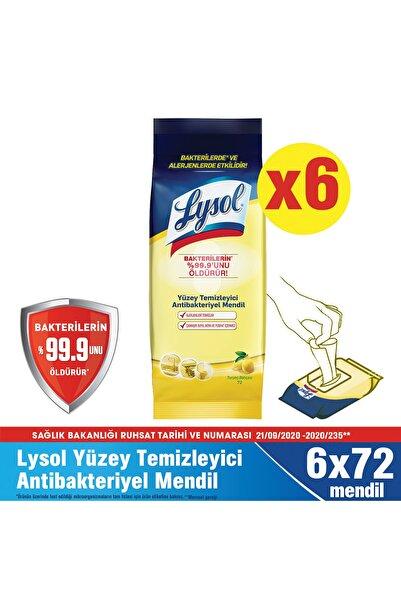 Lysol Yüzey Temizleyici Antibakteriyel Islak Mendil 6x72'li 432 Yaprak