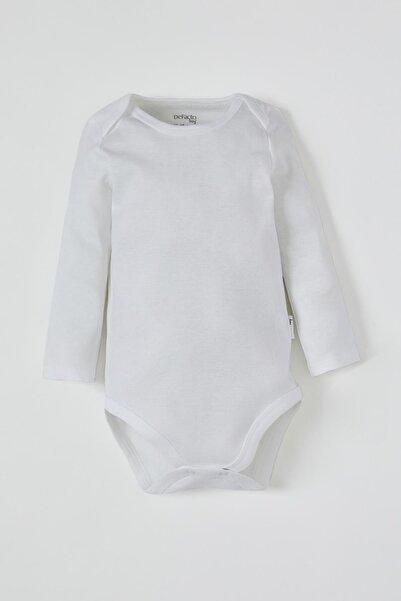 DeFacto Erkek Bebek Uzun Kol Çıtçıtlı Pamuklu Body