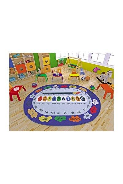 Confetti Paint Çocuk Odası Anaokulu Kaymaz Eğitici Oyun Halısı 133x190